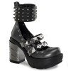 SINISTER-62 Dark Grey/Black Faux Leather